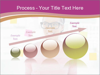 Woman in glasses PowerPoint Templates - Slide 87