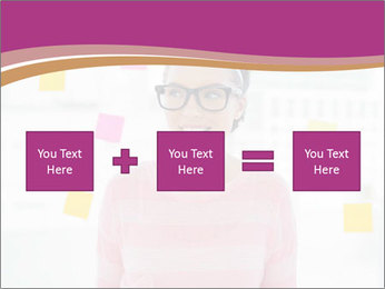 Woman in glasses PowerPoint Templates - Slide 95
