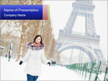 Girl enjoying PowerPoint Templates - Slide 1