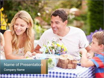 Family Enjoying PowerPoint Templates - Slide 1