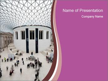 People visiting PowerPoint Template - Slide 1