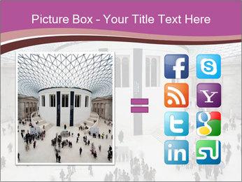 People visiting PowerPoint Template - Slide 21