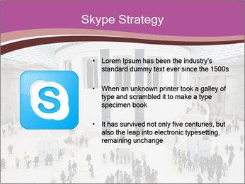 People visiting PowerPoint Template - Slide 8