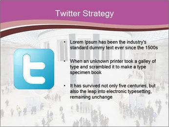 People visiting PowerPoint Template - Slide 9