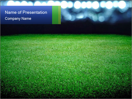 Soccer field PowerPoint Template