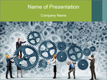 Businessteam working PowerPoint Templates