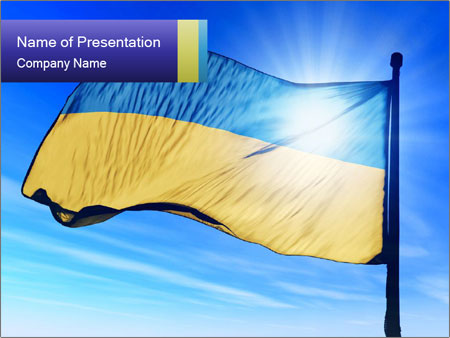 Ukraine flag powerpoint template backgrounds id 0000094833 ukraine flag powerpoint templates toneelgroepblik Image collections
