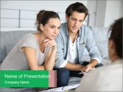 Couple meeting architect PowerPoint Templates