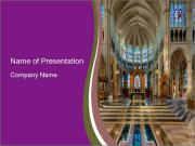Interior of the St. Mary's Cathedral PowerPoint Templates