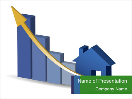growing home sales powerpoint template & backgrounds id 0000095156, Modern powerpoint