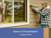 Repair of the house PowerPoint Template