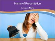 The girl in despair PowerPoint Template