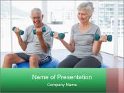 Elderly couple Plantillas de Presentaciones PowerPoint