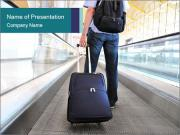 Traveler's luggage PowerPoint Templates