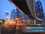 Shanghai highway PowerPoint Templates