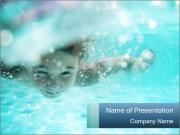Child swimming PowerPoint Templates