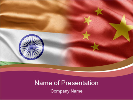 China And India Powerpoint Template Backgrounds Id 0000095232