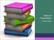 Colorful books PowerPoint Templates