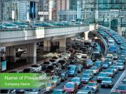 Automobile congestion PowerPoint Templates
