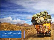 Overloaded truck PowerPoint Templates