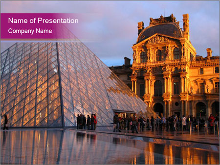 Museum In Paris Powerpoint Template Backgrounds Id 0000095288