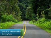 Empty road PowerPoint Templates