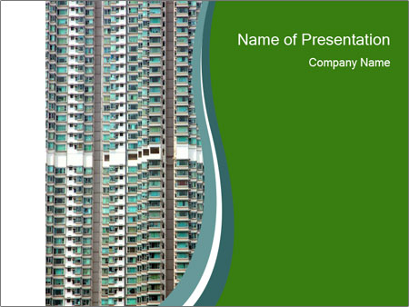 Residential Building Powerpoint Template Backgrounds Google