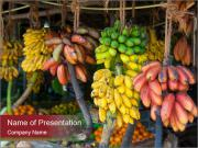 A lot of tropical fruits PowerPoint Templates
