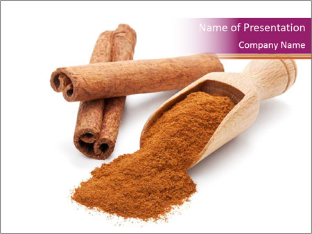 milled cinnamon powerpoint template & backgrounds id 0000095310, Presentation templates