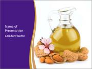 Almonds oil PowerPoint Templates