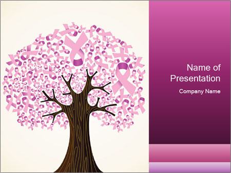 pink breast cancer powerpoint template & backgrounds id 0000095351, Powerpoint templates