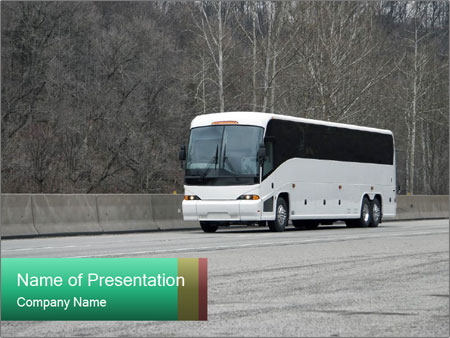 Private Charter Bus Powerpoint Template Backgrounds Google Slides
