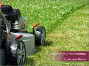 Silver lawn mower Modelos de apresentações PowerPoint