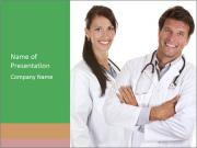 Doctors are smiling PowerPoint Templates