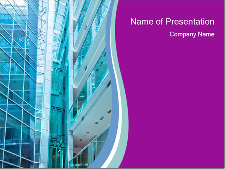 Glass Building Powerpoint Template Backgrounds Google Slides Id