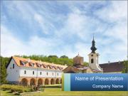 Serb Orthodox monastery Modelos de apresentações PowerPoint