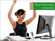 Successful business woman PowerPoint Templates