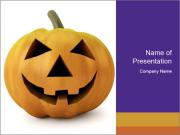 3d halloween pumpkin PowerPoint Templates