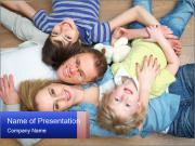 Portrait of family PowerPoint Templates