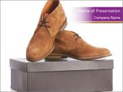 New brown shoes PowerPoint Templates