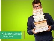 Young Man Holding Modèles des présentations  PowerPoint