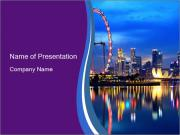 Singapore downtown PowerPoint Templates