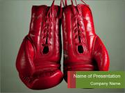Boxing gloves PowerPoint Templates