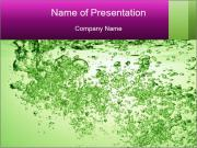 Green soda drink PowerPoint Templates