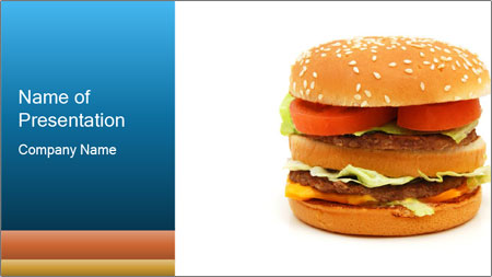 big hamburger powerpoint template backgrounds google slides id