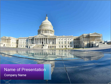 us capitol building powerpoint template & backgrounds id, Modern powerpoint