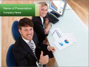 Ttwo business partners PowerPoint Templates