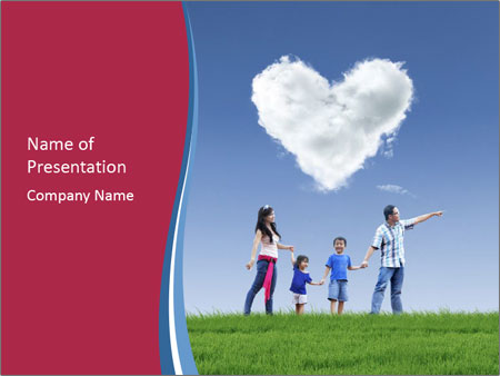 Happy Family Powerpoint Template Backgrounds Google Slides Id