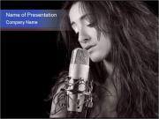 Singer PowerPoint Templates