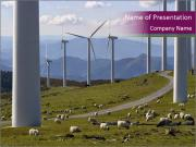 Wind turbines PowerPoint Templates